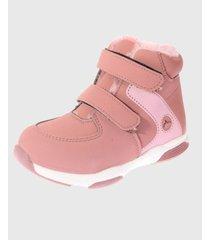 botín piel rosado vía franca