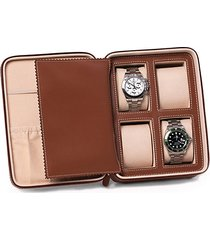 saddle leather 4-watch accessory case