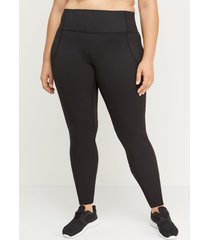 lane bryant women's sculpting active legging 26/28 black