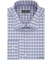 van heusen men's classic-fit flex collar ocean check dress shirt