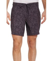 men's robert graham beach to bar bounty shorts, size 32 - black
