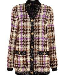 pinko jacquard knit jacket