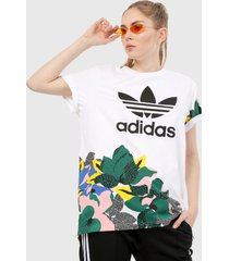 camiseta blanco-multicolor adidas originals sustudio londo loose,