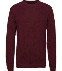 pedersen gebreide trui met ronde kraag rood minimum