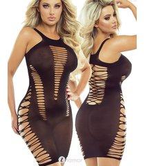 * provocative zwart net jurk agnes