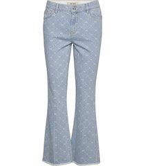 sim monogram jeans jeans wijde pijpen blauw mos mosh