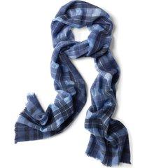indigo plaid scarf