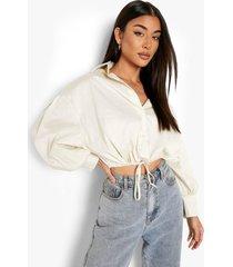blouse met touwtjes, stone