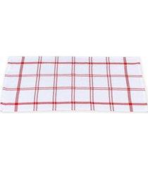 pano copa simple 60x30cm branco e vermelho