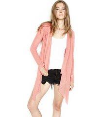 issac l/s draped cardigan - s pink