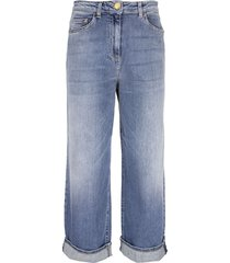 elisabetta franchi boyfriend-style jeans