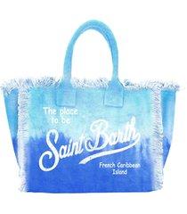mc2 saint barth tie dye print canvas bag tie dye bluette and light blue