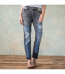 denim patch jeans