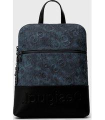 mochila azul desigual