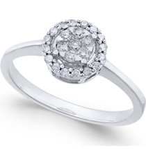 diamond cluster promise ring (1/4 ct. t.w.) in white gold