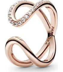 anel aberto pandora rose infinito brilhante