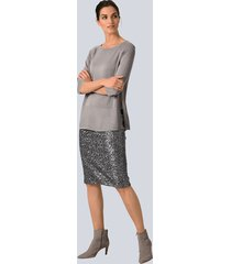 kjol alba moda grå
