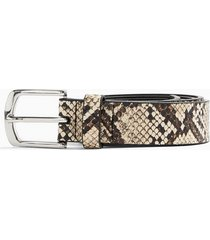 mens multi snake print belt