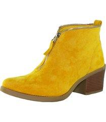 botin zipper amarillo danicolle