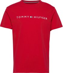 cn ss tee logo flag t-shirts short-sleeved röd tommy hilfiger