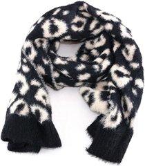 sciarpa e cappello liu jo animalier 369054 m0300 soia