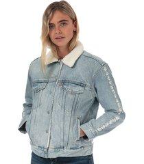 womens ex-boyfriend sherpa trucker jacket