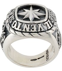 nove25 traditional wind rose ring - silver
