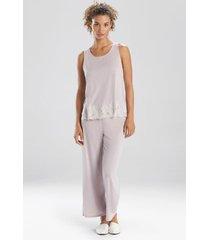 natori luxe shangri-la sleeveless sleep pajamas & loungewear set, women's, size l natori