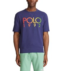 polo ralph lauren men's big & tall logo short-sleeve sweatshirt