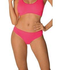 calcinha biquãni variance ultraleve demillus 53387 pink neon - rosa - feminino - dafiti