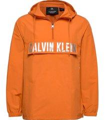 1/2 zip woven jacket outerwear jackets anoraks oranje calvin klein performance