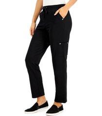 karen scott plus size drawstring cargo pants, created for macy's