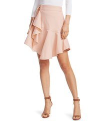 a.l.c. women's amalie linen-denim wrap skirt - buttercup - size 6