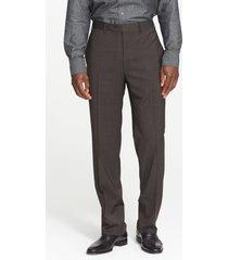 men's canali flat front classic fit wool dress pants, size 30 us/ 46 eu x unhemmed - blue