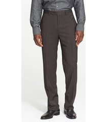 men's canali flat front classic fit wool dress pants, size 60r eu - blue