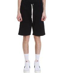 john elliott crimson short shorts in black cotton