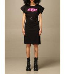 diesel dress diesel short dress in cotton with logo