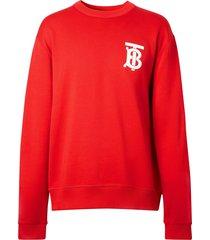 burberry monogram sweatshirt - red