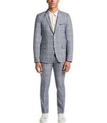 paisley & gray slim fit suit separates coat gray denim windowpane