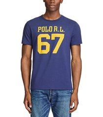 camiseta azul oscuro-amarillo polo ralph lauren ssl-tsh