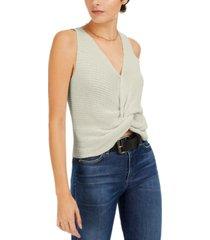 bar iii twist-front sleeveless sweater, created for macy's