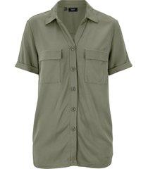 camicetta con tasche (verde) - bpc bonprix collection
