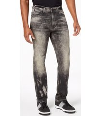 sean john men's white party athlete relaxed tapered-fit stretch jeans, created for macy's