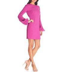 women's dress the population mackenzie long sleeve minidress, size x-large - pink