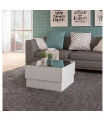 mesa de centro para sala artely parati branco