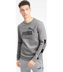 amplified sweater met lange mouwen voor heren, grijs/heide, maat m   puma