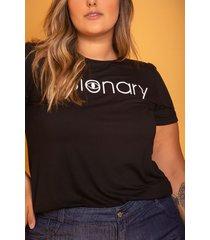 t-shirt visionary black plus size domenica solazzo