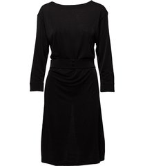 glitter v-neck back dress jurk knielengte zwart filippa k