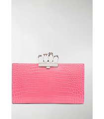 alexander mcqueen four ring clutch bag