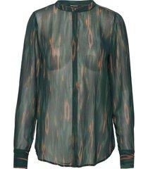 camou claire shirt blouse lange mouwen groen bruuns bazaar